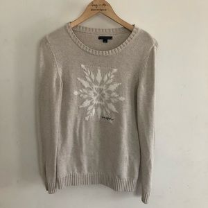 Tommy Hilfiger snowflake ugly Christmas sweater